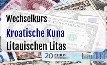 Kroatische Kuna in Litauischen Litas