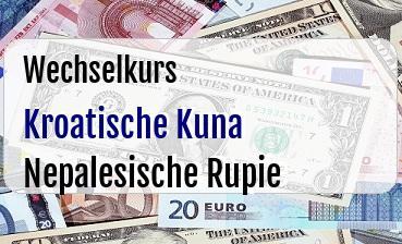 Kroatische Kuna in Nepalesische Rupie