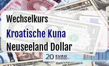 Kroatische Kuna in Neuseeland Dollar