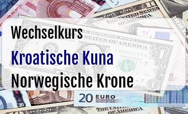 Kroatische Kuna in Norwegische Krone