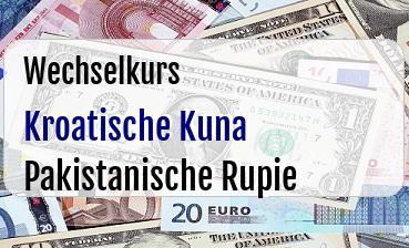 Kroatische Kuna in Pakistanische Rupie