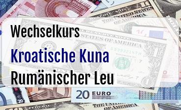 Kroatische Kuna in Rumänischer Leu
