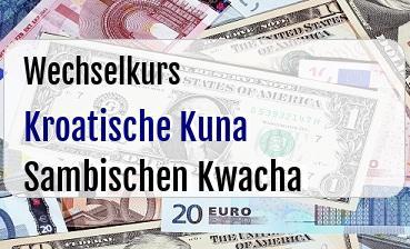 Kroatische Kuna in Sambischen Kwacha