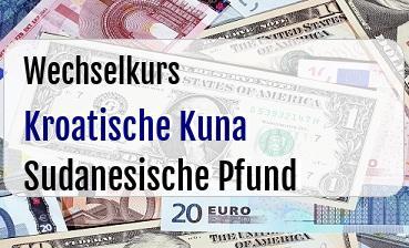 Kroatische Kuna in Sudanesische Pfund