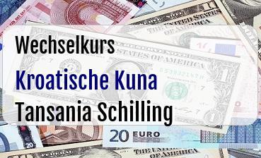 Kroatische Kuna in Tansania Schilling