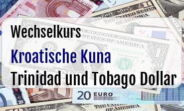 Kroatische Kuna in Trinidad und Tobago Dollar