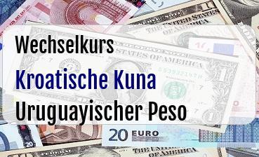 Kroatische Kuna in Uruguayischer Peso