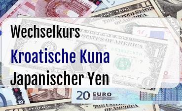 Kroatische Kuna in Japanischer Yen