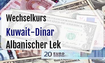 Kuwait-Dinar in Albanischer Lek