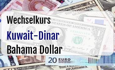 Kuwait-Dinar in Bahama Dollar