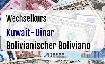 Kuwait-Dinar in Bolivianischer Boliviano