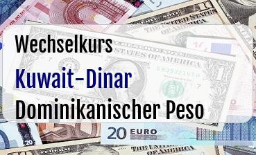 Kuwait-Dinar in Dominikanischer Peso