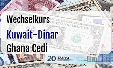 Kuwait-Dinar in Ghana Cedi