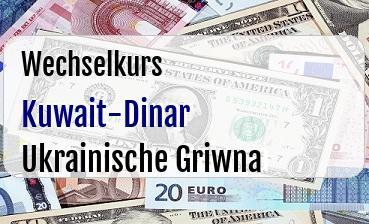 Kuwait-Dinar in Ukrainische Griwna