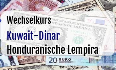 Kuwait-Dinar in Honduranische Lempira