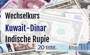Kuwait-Dinar in Indische Rupie