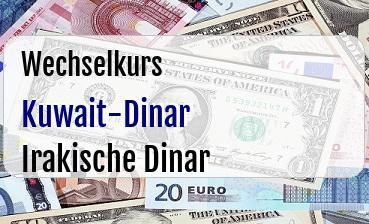 Kuwait-Dinar in Irakische Dinar