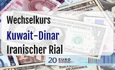 Kuwait-Dinar in Iranischer Rial