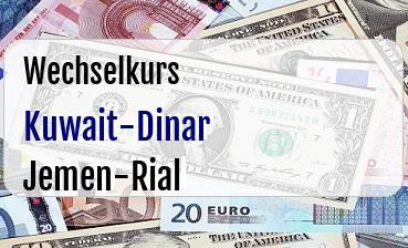 Kuwait-Dinar in Jemen-Rial