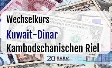 Kuwait-Dinar in Kambodschanischen Riel