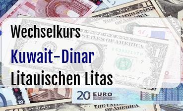 Kuwait-Dinar in Litauischen Litas