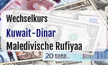 Kuwait-Dinar in Maledivische Rufiyaa