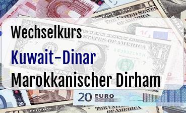 Kuwait-Dinar in Marokkanischer Dirham
