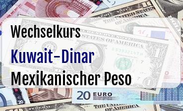 Kuwait-Dinar in Mexikanischer Peso