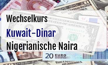 Kuwait-Dinar in Nigerianische Naira