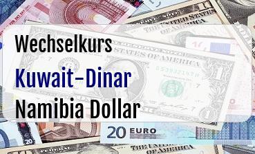 Kuwait-Dinar in Namibia Dollar