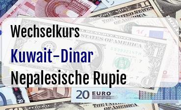 Kuwait-Dinar in Nepalesische Rupie