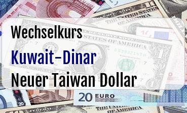 Kuwait-Dinar in Neuer Taiwan Dollar