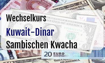 Kuwait-Dinar in Sambischen Kwacha