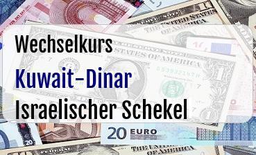 Kuwait-Dinar in Israelischer Schekel