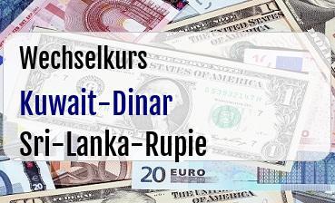 Kuwait-Dinar in Sri-Lanka-Rupie