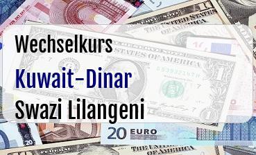Kuwait-Dinar in Swazi Lilangeni