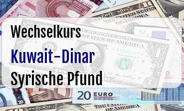 Kuwait-Dinar in Syrische Pfund