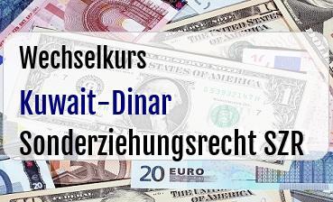Kuwait-Dinar in Sonderziehungsrecht SZR