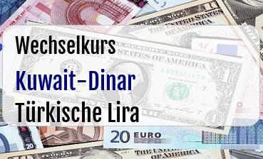 Kuwait-Dinar in Türkische Lira