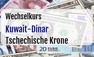 Kuwait-Dinar in Tschechische Krone