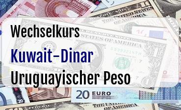 Kuwait-Dinar in Uruguayischer Peso