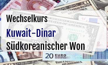 Kuwait-Dinar in Südkoreanischer Won
