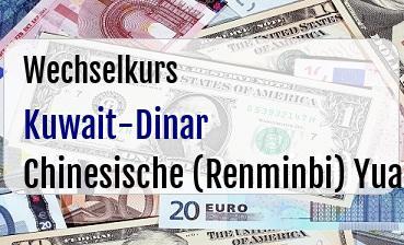 Kuwait-Dinar in Chinesische (Renminbi) Yuan