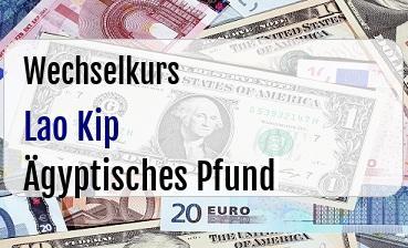 Lao Kip in Ägyptisches Pfund