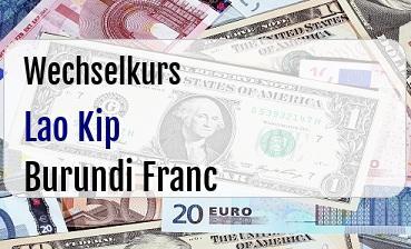 Lao Kip in Burundi Franc
