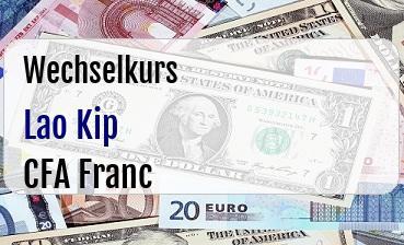 Lao Kip in CFA Franc