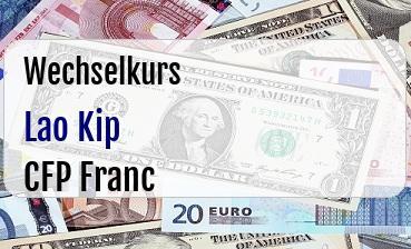 Lao Kip in CFP Franc