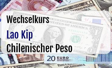 Lao Kip in Chilenischer Peso
