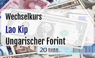 Lao Kip in Ungarischer Forint