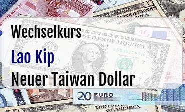 Lao Kip in Neuer Taiwan Dollar